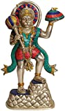 Idol Kollektionen Sankat Mochan Hanuman Statue, Messing, mehrfarbig, 35,56x 27.94X 73.66cm