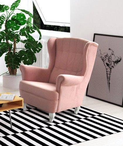 Ohrensessel Fernsehsessel Wohnzimmer-Sessel Relax-Sessel Loungesessel Armsessel - STANFORD (Rosa)