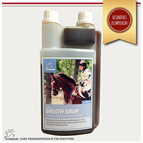 EMMA I Pferdefutter I Hustensaft Pferd Liquid I Ergänzungsfutter Bronchial Sirup mit Käutern I Premiumprodukte I 1 Liter (Unterstützung Sirup)