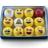 HJL&XD Emoji Unisex Offizielle Fantasy und Neuheit Fun Balls Golf-6 Einzigartige Emoji Bälle