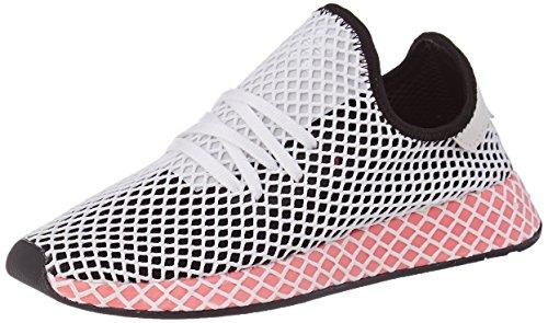 brand new 17ea2 e4bd6 adidas deerupt bianche e rosa chiaro