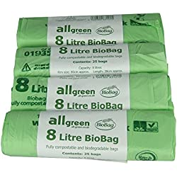 Bolsas de basura All-Green (8 litros, 100uds) compostables