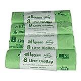All-Green 8 Liter kompostierbarer BioBag Küchenmüllsack, 100 Müllsäcke