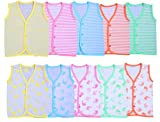 #10: Kuchipoo Multicolor Babies Cotton Jablas 0-6 Months, Pack of 10