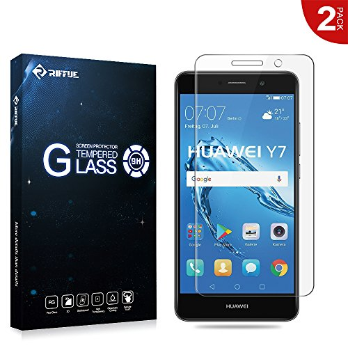 Riffue® Huawei Y7 Protector de Pantalla, Huawei Nova Lite Plus Cristal Vidrio...