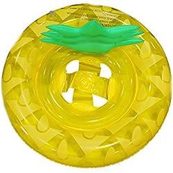 GZQ Flotador con Manija para Bebe, Anillo Flotador Natación del Piña para Pisina, Inflable Asiento Niños para Playa, Juegos Acuáticos Verano