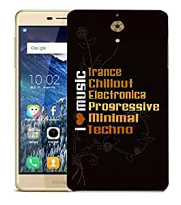 Snoogg I Love Music Designer Protective Back Case Cover For COOLPAD MEGA 2.5 D