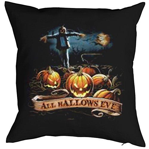 TITAGU Deko/Sofakissen mit Füllung Halloween-Motiv: Halloween Kürbisse - tolle Geschenkidee