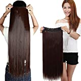Confidence Straight 5 Clip Synthetic Hair Extension With Free 3 Wig Caps For