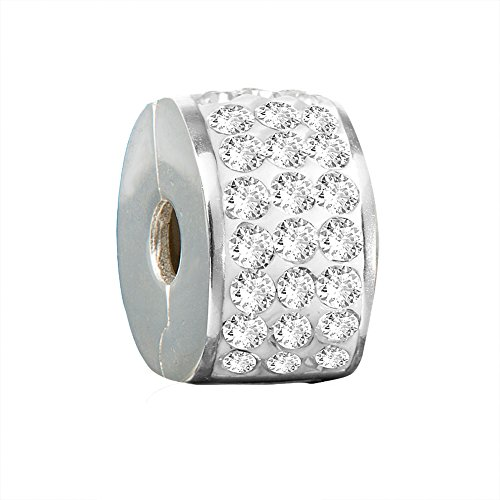 Andante Stones perlina distanziatore Bead Clip Stopper in argento massiccio Sterling 925