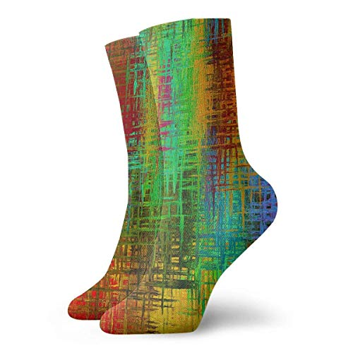 Xdevrbk Colorful Strips Pattern Adult Short Socks Cotton Cool Socks for Mens Womens Yoga Hiking Cycling Running Soccer Sports - Argyle Shorts