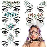 Adesivo per tatuaggi L'adesivo per tatuaggi facciali colorato può essere liberamente combinato con una punta da trapano ambientale non tossica sulla fronte