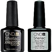 CND Shellac Xpress5 Top Coat & CND Shellac Base Coat, 7,3 ml, bottiglia da professionisti Gel Polish