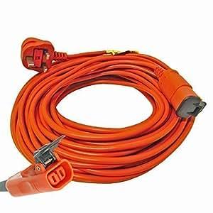 First4spares Extra Long: 25m Câble Câble d'alimentation secteur pour tondeuses Flymo Haie et à gazon