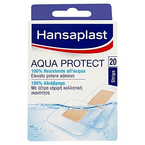 Hansaplast Cerotti Aqua Protect Resistenti all'Acqua 2 Formati Assortiti - 3 Pacchi da 20 Pezzi