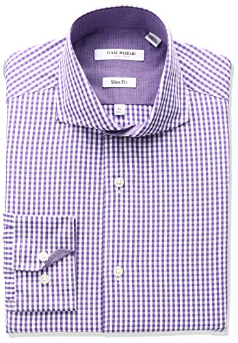 isaac-mizrahi-mens-slim-fit-classic-gingham-cut-away-collar-dress-shirt-purple-155-neck-32-33-sleeve