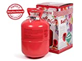 Alsino KAR-HE Heliumgasflasche Balloongas Heliumgas Einweg Für Ca. 50 Luftballons 0,42 qm³