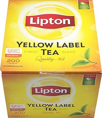 200 Teebeutel Lipton Yellow Label Tea Quality No. 1 (2 x 100)