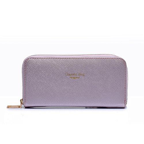 fanhappygo Fashion Retro Leder Damen elegant Kreuzmuster Portemonnaie taschen Schulterbeutel Umhängetaschen Abendtaschen a set lila