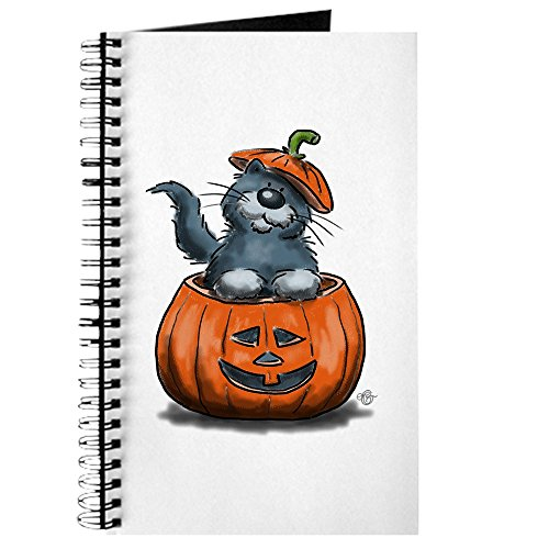 CafePress - Halloween - graue Katze - Spiralgebundenes Tagebuch, persönliches Tagebuch, Tagebuch