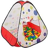 LittleTom Bällebad Spielzelt 90x90x90cm Popup Baby Spielhaus Kinder-Zelt Punkte
