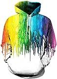 Imbry Damen Slim Fit Fashion Hoodie Long Sleeve Kapuzenpullover 3D Druck Muster Sweatshirt Pullover