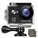 GeeKam Action Cam 1080P Wasserdicht 30 Meter Unterwasserkamera Aktion Kamera WiFi Sport Kamera 12MP...
