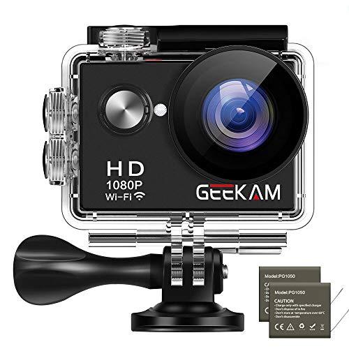 GeeKam Action Cam 1080P Wasserdicht 30 Meter Unterwasserkamera Aktion Kamera WiFi Sport Kamera 12MP Full HD 2 Zoll LCD 170 ° Ultra Weitwinkel mit 2 Batterien und Zubehör 01-video-capture