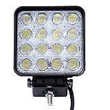 8x impermeables proyector punto luz de trabajo luces antiniebla Luz de trabajo 67IP LED 48W - Tractor - faros antiniebla excavadoras