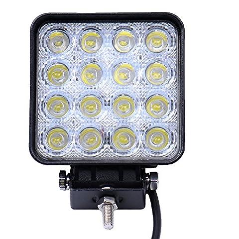 * Top Leistung*10x48W LED Lampe square Scheinwerfer kaltweiß Spot IP67 Arbeitsscheinwerfer (10)