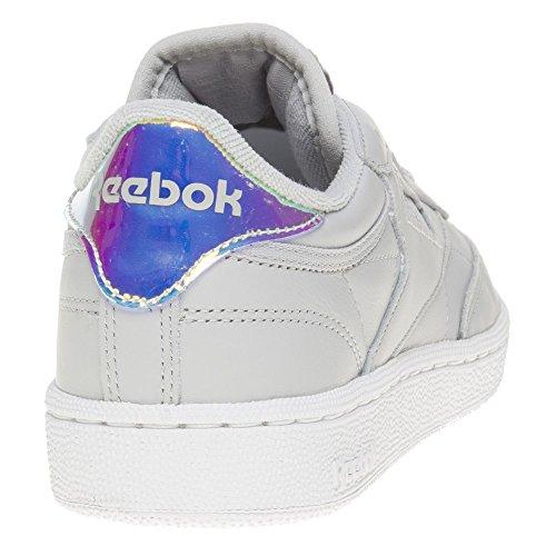 Reebok Club C 85 Iridescent Femme Baskets Mode Gris Gris