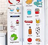 Qbbes Cartoon Kitchen Refrigerator Door Stickers Decorative Stickers Food Fruit Removable Wall Sticker Stickers On The Wall 50X70Cm