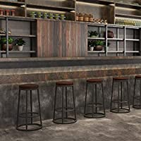 01a4baf40338 YZYDZ Sillas Muebles Modernos Taburetes de Bar para desayunador, mostrador,  Cocina, hogar (Madera/PU Pad),75cm,Madera