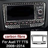 FSXTLLL Carbon Streifen Klimaanlage CD Panel Trim Autoinnenausstattung Auto Styling 3D Aufkleber, Für Audi TT 8n 8J MK123 TTRS
