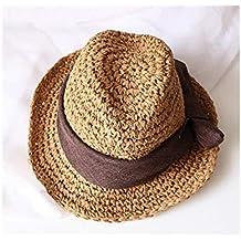 Young shinee Cappello per Bambini Cappello da Bowknot Cappello di Paglia per  Bambini Cappello a Bombetta 5f16b826619c