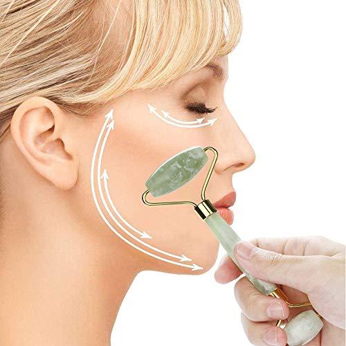 Mitlfuny Gesundheit Und SchöNheitDIY Dekoration 2019,Natürliche Jade Guasha Gesichtsmassage Jade Roller Gesicht Körper Massagegerät Beauty ()