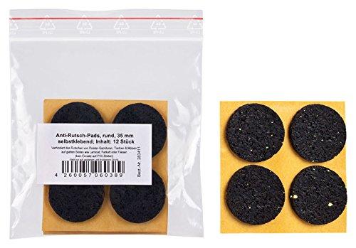 peha® Anti-Rutsch-Pad (Rutschhemmer für Möbel, Sofas, Tische) selbstklebend | Ø 35 mm (12 Stück)