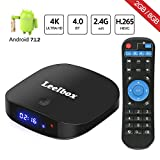 Leelbox – [2018 Ultima Generazione] Q2 MINI Android 7.1.2 Quad core TV Box di 2GB RAM+8GB ROM Smart TV Box con Bluetooth 4.0 / HD / H.265 / 4K / 3D