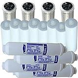Aquintos Wasseraufbereitung 2 Jahres Ersatzfiltersatz (16 Filter) für 5 stufige Osmoseanlagen