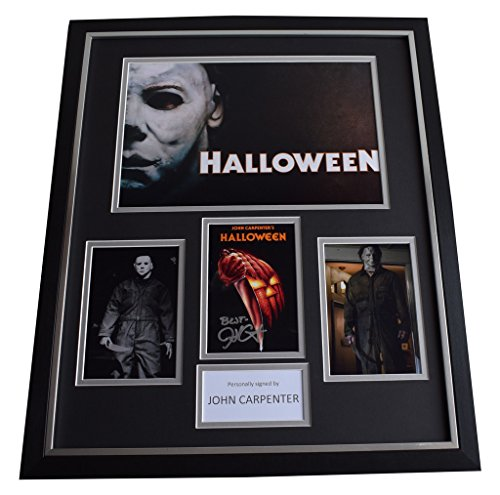 Sportagraphs John Carpenter SIGNED Framed Photo Autograph Huge display Halloween AFTAL & COA PERFECT GIFT