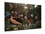 Henri Rousseau - Der Traum - 60x40 cm - Leinwandbild auf Keilrahmen - Wand-Bild - Kunst, Gemälde, Foto, Bild auf Leinwand - Alte Meister/Museum