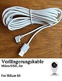 HiKam+: HiKam S5 Strom Micro USB Kable 5m
