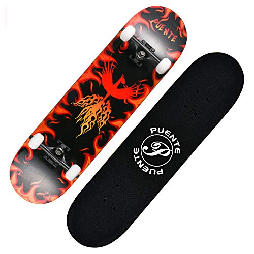 WxhPgh Allrad Roller Kinder Erwachsene Anfänger Pinsel Street Skateboard Profi Doppelwippe, H
