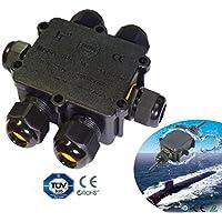 24A 450V 6way caja de derivación IP68impermeable Cable eléctrico Conector UK