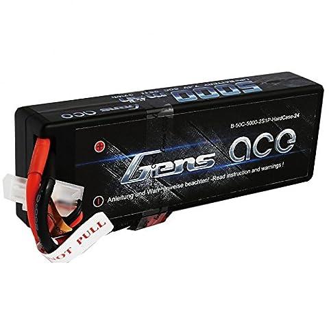 Gens ace LiPo Batterie 5000mAh 7.4V 50C 2S Hardcase pour RC Car Hélicoptères Avion Truck
