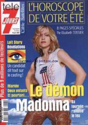 TELE 7 JOURS [No 2143] du 23/06/2001 - MADONNA - LOFT STORY.