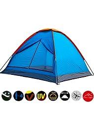 Skytower azul Festival Camping senderismo montaña de cúpula de Plain parte superior impermeable compacto 3–4personas tienda al aire libre