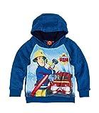 Feuerwehrmann Sam Jungen Sweatshirt mit Kapuze aus Teddy Vlies - blau - 116