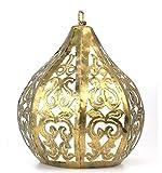 Sospensione/lampadario marocchino in ferro battuto Oro Stile Etnico orientale
