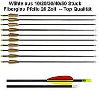 20 Frecce / Lunghezza: 26 pollici / Realizzato in fibra di vetro 10962 - 20 Frecce